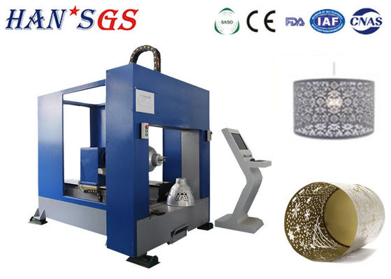 Cina Serat CNC Lampshade Sheet Metal Laser Cutting Machine 1000W High Efficiency pemasok